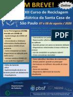 Curso de Reciclagem Pediátrica - Santa Casa SP - Agosto 2020
