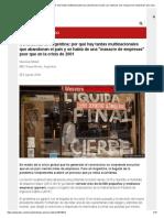 Coronavirus en Argentina_ por qué hay tantas multinacionales que abandonan el país y se habla de una _masacre de empresas_ peor que en la crisis de 2001 - BBC News Mundo