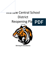 Warsaw Central School District Reopening Plan 7-31-20