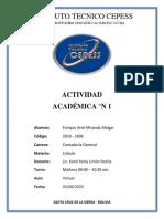 ACTIVIDAD °N 1 - CALCULO - CONCEPTO DE CONJUNTO