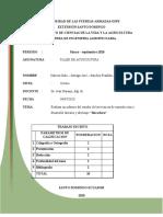Informe 2 de Taller de Acuicultura