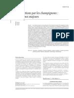 Intoxications Par Les Champignons Syndromes Majeurs