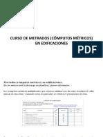 CURSO DE METRADOS (CÓMPUTOS MÉTRICOS) EN EDIFICACIONES