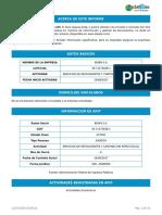 Informe BENIN SA