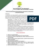 TALLER DE INVESTIGACION PARA PERSONAL DE SEGURIDAD PRIVADA