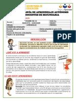 Anexo 7.  SILUETA GUÍA DE APRENDIZAJE SECUNDARIA