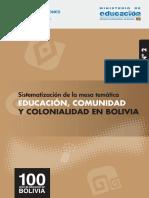 BPIEB_48_187_Educacion comunidad e descolonizacion en Bolivia