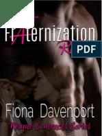 SERIE RISQUÉ CONTRACTS. 3-FRATERNIZATION PLAN. FIONA DAVENPOR