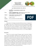 Dengue Update - As of Aug. 23, 2019