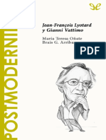 40. Postmodernidad. Jean-Francois Lyotard y Gianni Vattimo