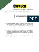 Kocka, Jürgen et al. - Stellungnahmen zu drei Fragen zum Verständnis der Geschichte