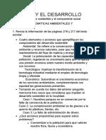 EL PERU Y EL DESARROLLO                  Tema