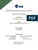 Principios y Fundamentos del Derecho Electoral dominicano