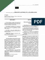 E.Regidor Sistema de Informacion Sanitaria en la Planificacion
