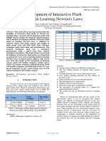 Development of Interactive Flash Media in Learning Newton's Laws