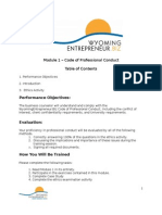Module 1 Code of Professional Conduct