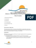 Module 3 Public Speaking  Conducting Training Programs