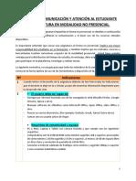 NORMAS DE COMUNICACION Y ATENCION AL ESTUDIANRE