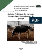 PRÁCTICA 1 - GUIA DE PRÁCTICAS DE ANATOMÍA DE LOS ANIMALES DE GRANJA 2014 II