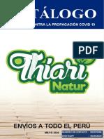 CATÁLOGO MAYO 2020 THIARI NATUR