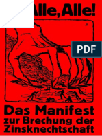 Das Manifest zur Brechung der Zinsknechtschaft des Geldes