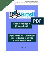 IGS Brasil - Geotêxteis em Rodovias 2018 - En aprobación