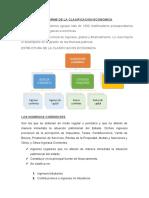 INFORME DE LA CLASIFICACION ECONOMICA