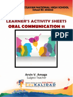 Oral Communication in Context LAS - Week 2