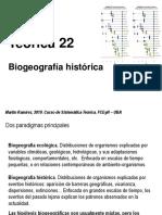 Teo 22 Biogeografia historica