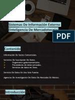 Sistemas De Información Externo (Inteligencia De Mercadotecnia)