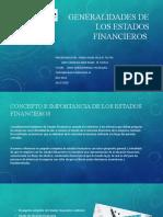 Generalidades de los estados financieros Actividad 4 Unidad 3