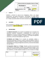 PRG-SST-003 Programa de Medicina Preventiva y del Trabajo