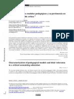 Caracterizacion de modelos pedagógicos