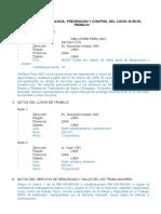Plan COVID-19 primera revisión