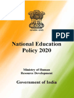 National Education Policy 2020 India