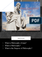 THE PHILSOPHY OF MAN