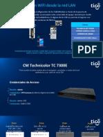 Configuración WIFI TC 7300 desde la red LAN