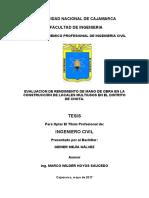 TESIS EVALUACION DE RENDIMIENTO DE MANO DE OBRA EN LA CONSTRUCCIÓN DE LOCALES MULTIUSOS EN EL DIS.doc