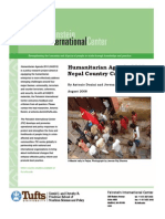 Humanitarian Agenda 2015--Nepal Case Study