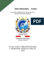 EVALUACION I -SEM. FISICO FINANCIERO DRTPE 2015