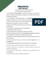 Preguntas Para Café Virtual