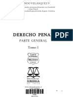 Velásquez V., Fernando, Derecho Penal, PG,Tomo I