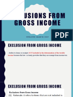 Exclusion from Gross Income