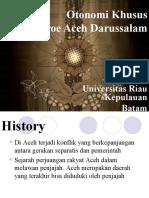 Keistimewahan Aceh