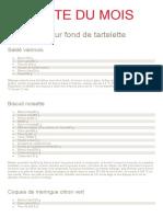 JDP 432 RM Journal du patissier recette du mois