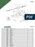 Metabo GE 700 retificadora