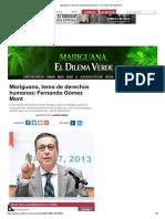 Mariguana, tema de derechos humanos_ Fernando Gómez Mont