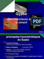 Gypse, Son importance dans le ciment