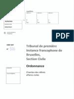 Ordonnance Bouillon - Etat Belge