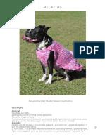 Roupinha Pet Model Rosa Coelhinho Círculo